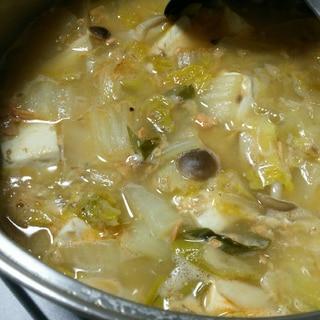 鮭缶で簡単❗石狩鍋