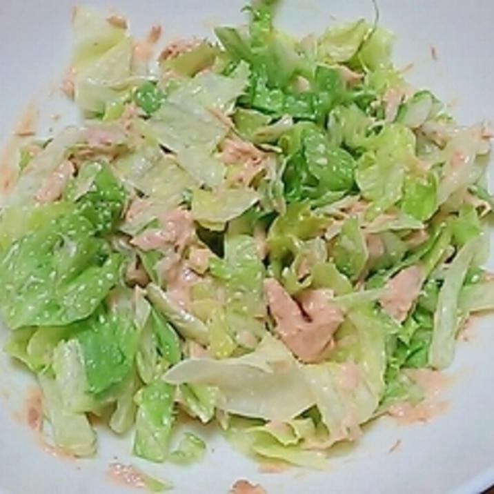 簡単サラダ♪レタスのツナマヨ和え