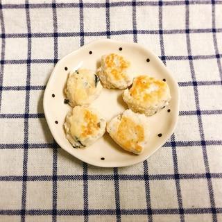 【離乳食完了期】鶏ひき肉と木綿豆腐のつくね焼き