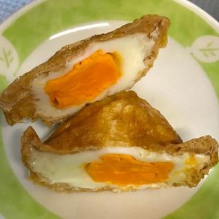 レンジでいなりあげ卵