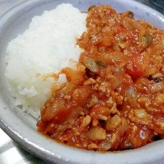 [簡単]水なし&フライパンでトマトとナスのカレー