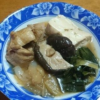 鶏肉と葉玉ねぎの煮物♪