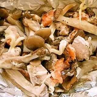 【うま塩】きのこと鮭のホイル焼き