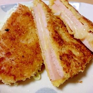 チーズ入りハムカツ~お中元のハム消費レシピ~