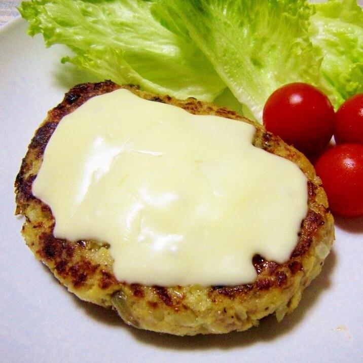 ヘルシー♪チーズとろ~り高野豆腐&塩こんバーグ