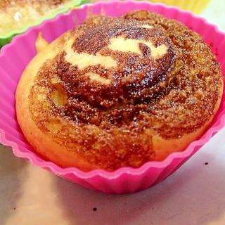 バタークッキーとチョコの南瓜マフィン
