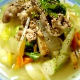 白菜で作るおうちちゃんぽん♪