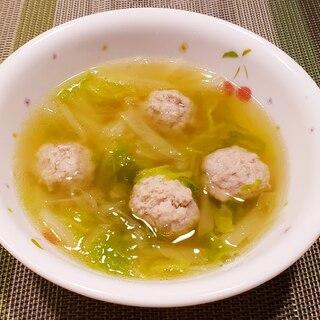 柔らか肉団子と白菜のスープ