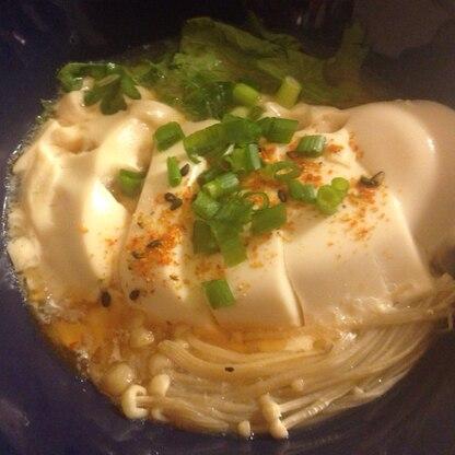 レンジでチン♪簡単湯豆腐
