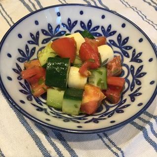 もう一品に* 夏野菜と大葉チーズのぽん酢和え