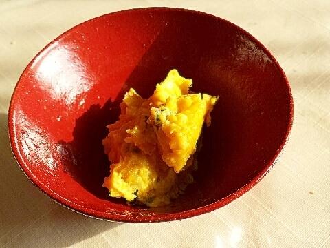 ひと手間が美味しい☆和風味付けのかぼちゃサラダ