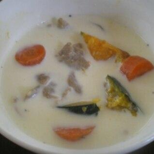 南瓜のコーンスープ