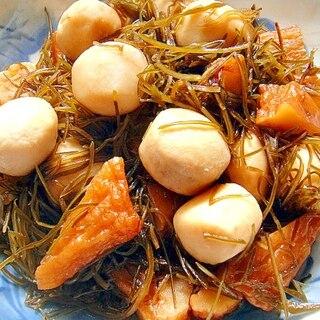 里芋とさつまあげ刻み昆布の煮物