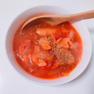 簡単!トマト缶で作るミネストローネ風トマトスープ