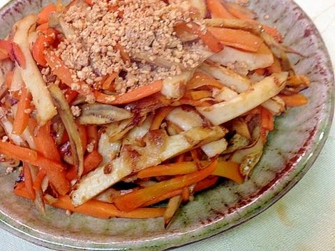 人参、竹輪、ごぼうの炒め物