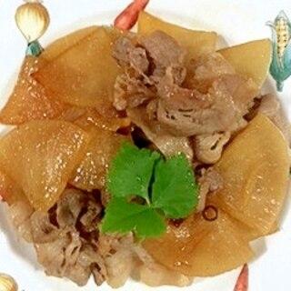 豚バラ肉と大根の生姜炒め
