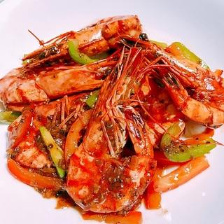 タイ風海老の黒胡椒炒め クンパットプリックタイダム