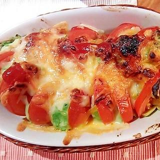 グリルで簡単☆トマトとアボカド焼き