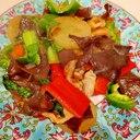 ドレッシング大活躍。ヤーコンと彩り野菜の中華炒め