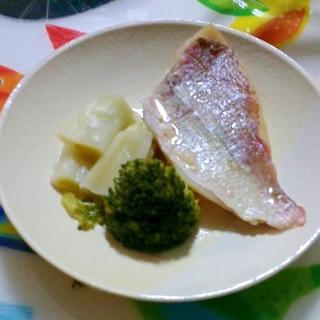 圧力鍋で鯛の酒蒸し