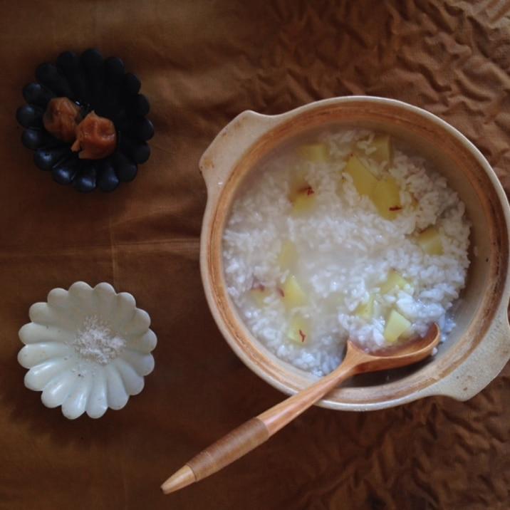 胃がスッキリ!お鍋で20分!簡単さつまいも粥!