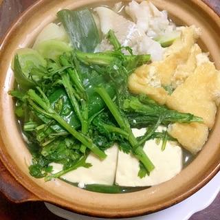 生タラの白だし湯豆腐鍋。