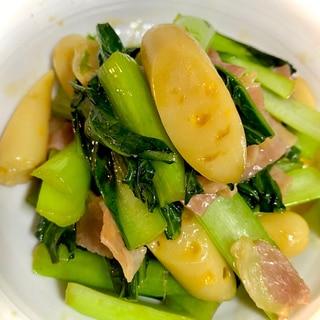 チーカマと小松菜のオイスターソース
