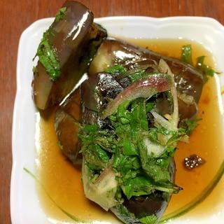 紫蘇とミョウガ入り茄子の煮浸し