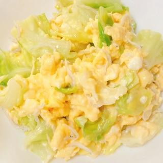 春キャベツとふんわり卵のマヨネーズ和え