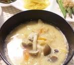 きのこの豆乳味噌デトックススープ