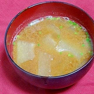うちの味噌汁「冬瓜の味噌汁」