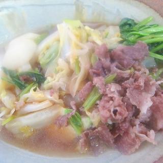 牛肉と小蕪と白菜煮グリル