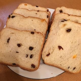 ホームベーカリーで☆ドライフルーツ食パン