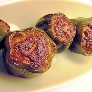 お弁当用✿ピーマン肉詰め