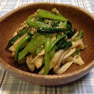 小松菜とかんぴょうのごま和え♪