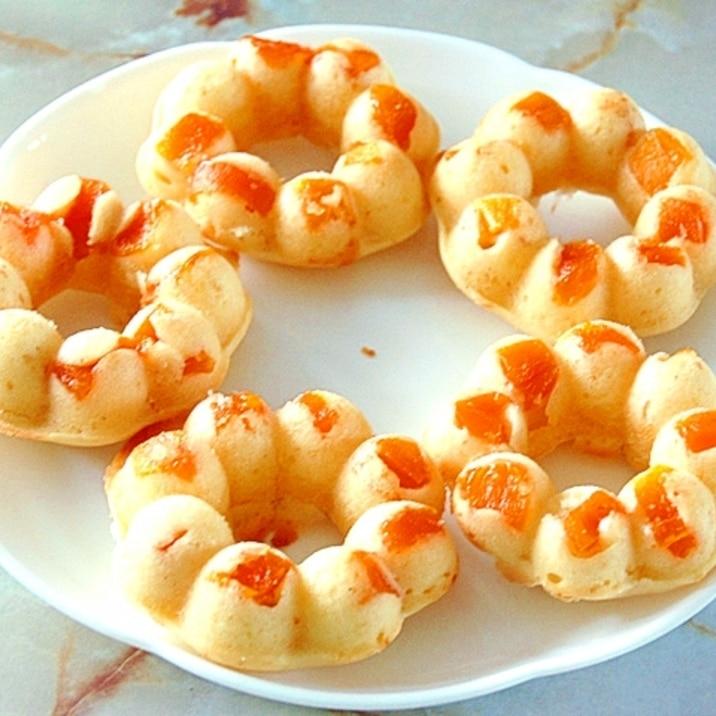 ポンデリング型で!ドライマンゴーの焼きドーナツ♪