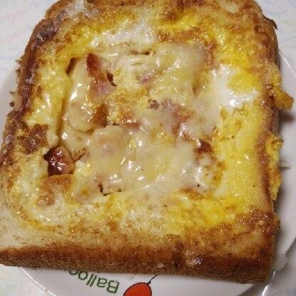 チーズを入れるのを忘れて、上から振りかけました…笑。