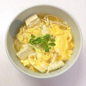 くずし豆腐のかき玉うどん