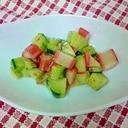 きゅうりとかにかまの簡単サラダ
