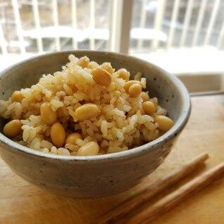 【独居自炊】玄米大豆ごはん