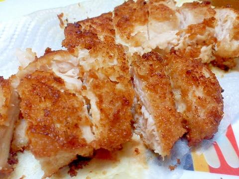 鶏むね肉でチキンカツ