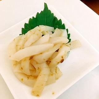 日本酒の肴☆イカの柚子胡椒和え