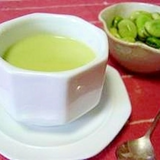 簡単美味しい空豆スープ