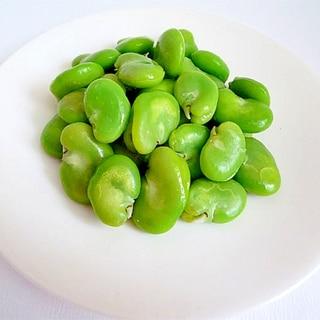 そら豆の煮方 包丁を使わずにそら豆をむく方法