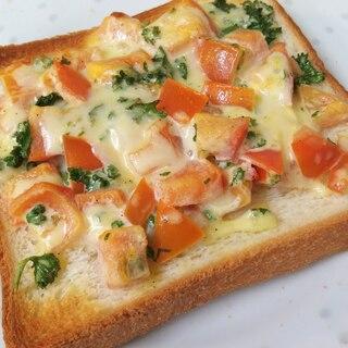 トマトとパセリのマヨチーズトースト