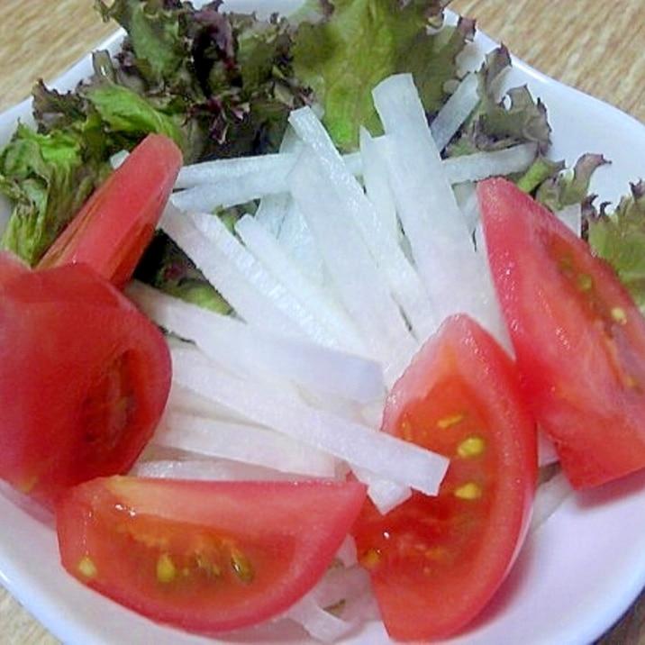 トマトと大根のさっぱり和風サラダ