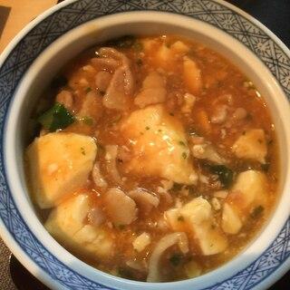 豚バラ肉で 麻婆豆腐