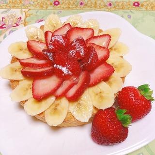クリスマスにも!イチゴとバナナのカスタードタルト☆