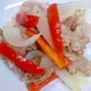豚肉とパプリカのあっさり炒め