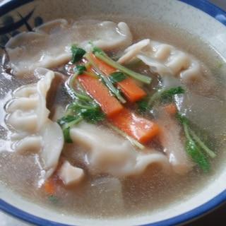 水餃子のおかずスープ